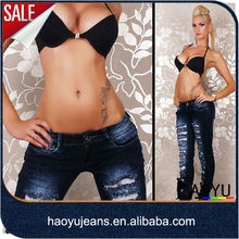 2013 High Quality Wholesale Sexy Skinny Denim Jeans Custom Jeans Manufacturer In Lahore Pakistan(HYW691)
