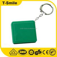 T-SMILE SMTL021 Promotional Green Square Mini Tape Measure Keychain Mini Gift Tape