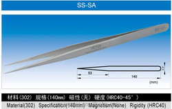 SS-SA High Precision Pointed tweezer Stainless Steel Tweezer ESD Tweezer