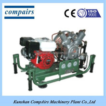 portable high pressure breathing air compressor
