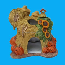 Cretive halloween decoration Ceramic tealight house halloween day