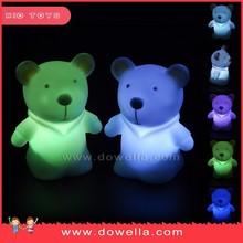 china novelties pvc bear figurine flashing toy for children