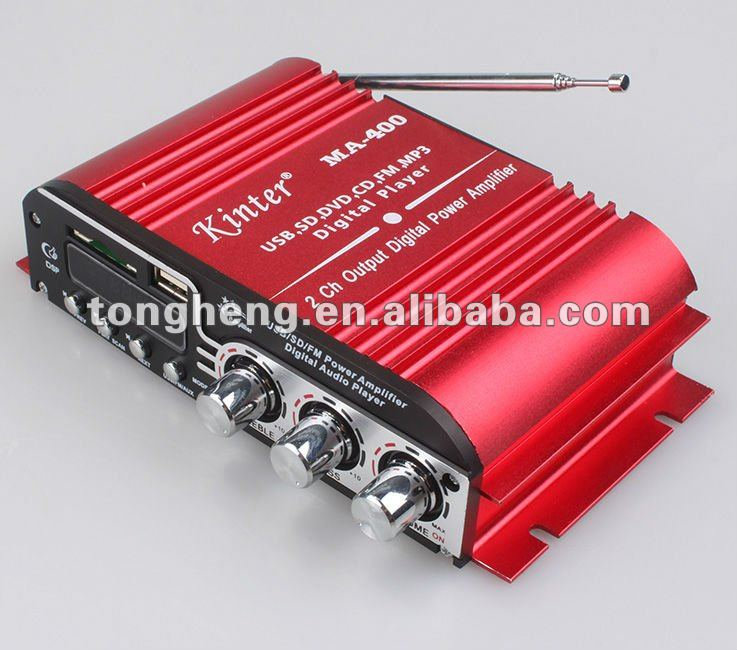 2 channel mini car amplifier with usb sd fm car amplifier digitail display