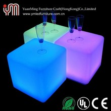 Rechargeable Cheap Commercial LED Cube Table YM-LC5050