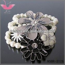 925 Sterling Silver Plated New Shrimp Buckle Perfect Stars Bracelet