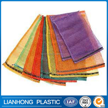 Experienced factory direct sale leno mesh bag for vegetable,fruit,firewood packing, strong pp mesh bag drawstring mesh bag 20kg