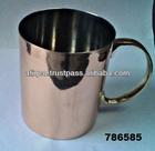 Metal cobre louça caneca de cerveja, tankard com alça de bronze, moscou mule canecas