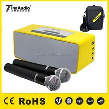 Powered 20W waterproof bluetooth speaker/tv stand with speakers