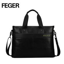 Factory Wholesale Leather Men's Handbag Shoulder Business Men Bag