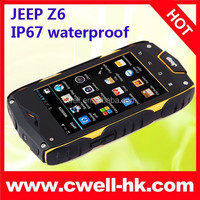 Original Jeep Z6 IP67 Waterproof Rugged Smartphone MTK6572W Dual Core Android 4.2 4.0 Inch IPS Screen 3G Jeep Phone