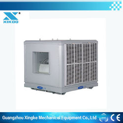 Energy saving indoor evaporative air cooler cleaning