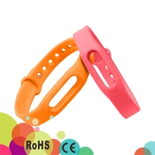 9 Colors Adjustable Unisex TPSiV Wrist Band Bracelet No Activity Tracker Xiaomi Mi Band strap Fitness
