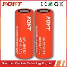 KOKT high capacity imr 26650 battery 4000 mah 3.7V 26650 li ion battery