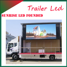 Sunrise digital mobile billboard truck for sale outdoor advertising 2015 new images led display flash high quality