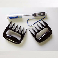 BBQ grill sets Meat Dial Thermometer and Bear Paw Meat Handlers for grilling