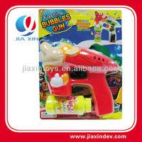 music blue light plastic toy water gun bubbles blower gun