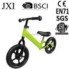2015 fashion green color foam tire high best price steel kids walking push runing bike for kids