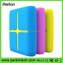 PP1008 12000mah Bright coloful silicone case rohs power bank gift