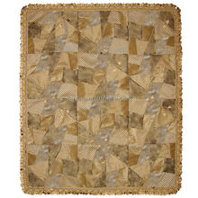 100% Polyester Different Kinds Fabric Mixed Patchwork Blanket