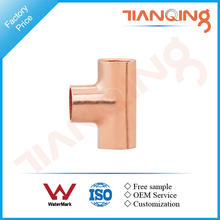 T101 Factory price pipe fitting copper equal plumbing tee