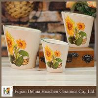 flower pots set cute mini ceramic flower pots