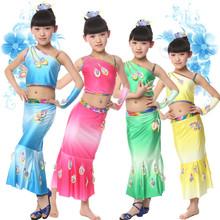 Children dance clothes peacock dance performance clothing china national dance clothing wholesale