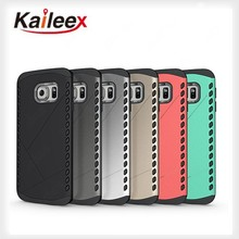 New Arrival Silicone + Pc 2in1 Mobile Cases For Samsung Galaxy S6 Edge Armor Case