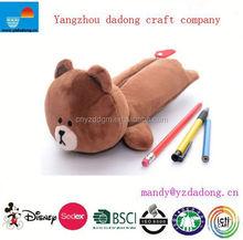 plush animal pencil case toys /wholesale plush bear pen toys