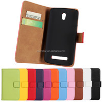 Flip PU Leather Skin Credit Card Slots Case for HTC Desire 500 &Screen Protector