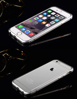 hard rubber hybrid bumper case cover luxury metal aluminum bumper frame for iPhone 6/6s