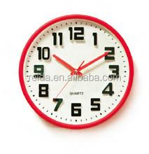 hot sale round shape 3D plastic large decorative wall clock