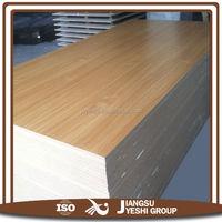 hot sale MDF Fiberboard Raw Plain/Wood Grain Melamine Faced MDF board