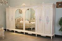 classic italian furniture - royalty handcraft solid wood wardrobe-luxury wooden bedroom furniture