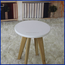 Top quality wooden frame round stool with MDF cover