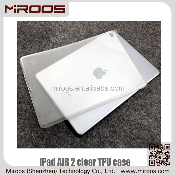 MIROOS 2015 OEM Chinese manufacturing transparent tpu soft case for ipad air 2