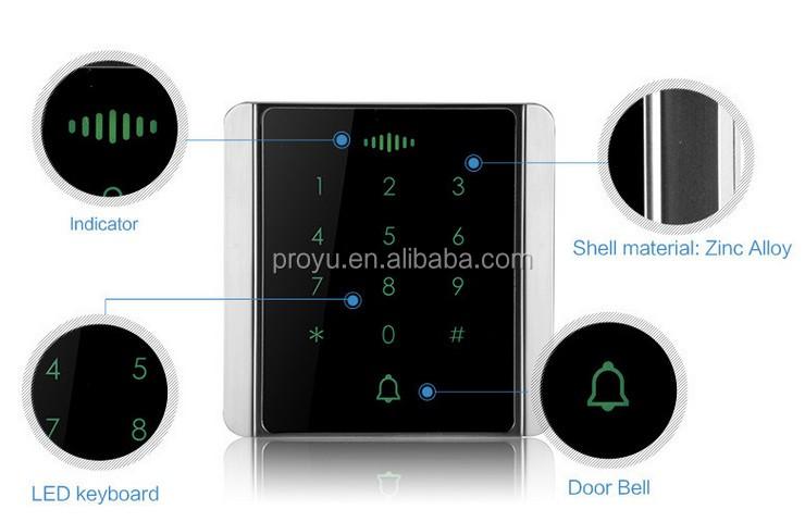 Ip65 Rfid Metal Waterproof Access Control With Touch Keypad Card Reader Buy Metal Waterproof