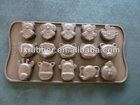 HOT!!!high quality with different animal shape cute chocolate mould