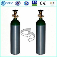 Low Price Seamless Aluminum Bottles Small Portable Oxygen Cylinder