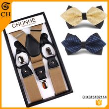 Custom Diverse Men Suspenders Bow Tie According To Your Requirement