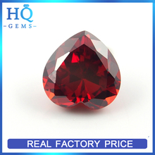 Artificial CZ Gems Polishing Garnet Zircon Heart Cubic Zircon