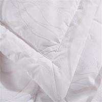 White Jacquard Quilting Polyester Bedding