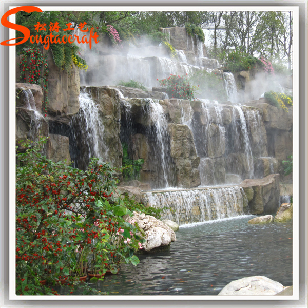 2015 hot sale new style high durability decoration china for Waterfalls for ponds for sale