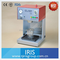 Dental Lab Device AX-2000B Vacuum Investment Mixer Used to Mix Plasters, Investments and Silicones