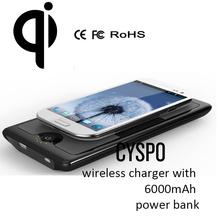 wireless charger 6000mAh power bank sans charger CYSPO 1688-CG