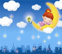 quiet city and dreamgirl wall decoration wallpaper for school classrooms/for kids