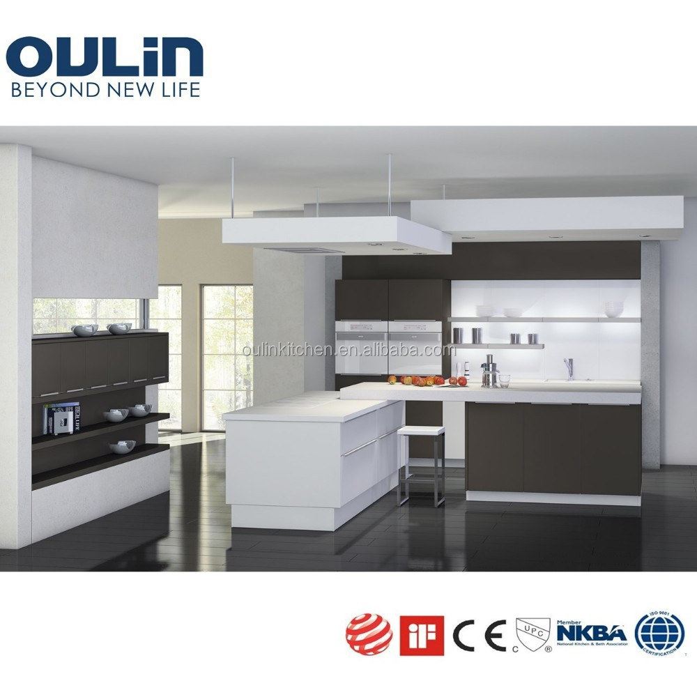Best selling top quality wood veneer and lacquer kitchen for Best quality kitchen cabinets brands