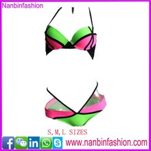 Nanbinfashion wholesale new fashion colors patched bikini triangl