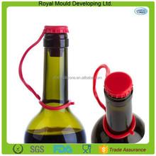 Anti-lost silicone rubber champagne wine bottle stopper