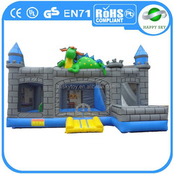 2015 Factory direct sale top quality inflatable dinosaur bouncer, inflatable slide with bouncer, cheap bouncers for sale
