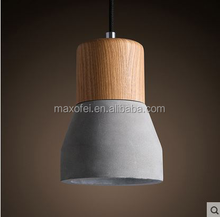 Coffee shop decoration E27 wooden pendant ceiling light
